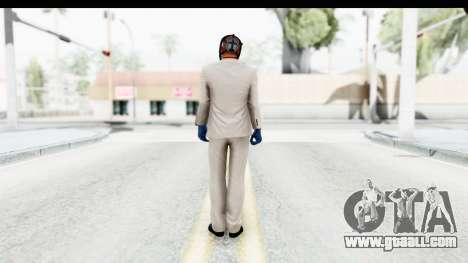 Payday 2 - Jiro with Mask for GTA San Andreas third screenshot