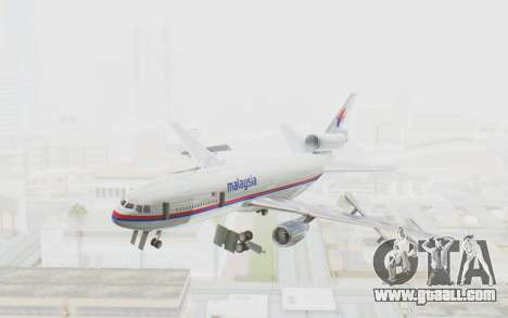 DC-10-30 Malaysia Airlines (Old Livery) for GTA San Andreas back left view