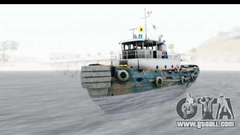 GTA 5 Buckingham Tug Boat v1 IVF for GTA San Andreas right view