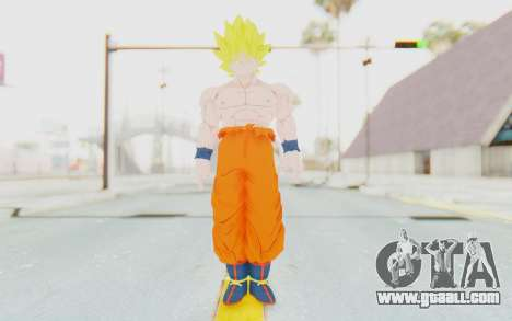 Dragon Ball Xenoverse Goku Shirtless SSJ for GTA San Andreas second screenshot