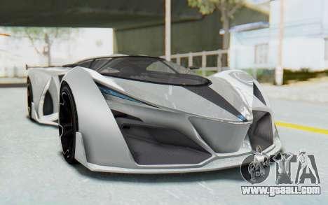 GTA 5 Grotti Prototipo v2 for GTA San Andreas right view