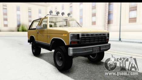 Ford Bronco 1980 IVF for GTA San Andreas back left view