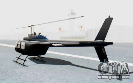 Bell 206B-III Jet Ranger Policja for GTA San Andreas left view
