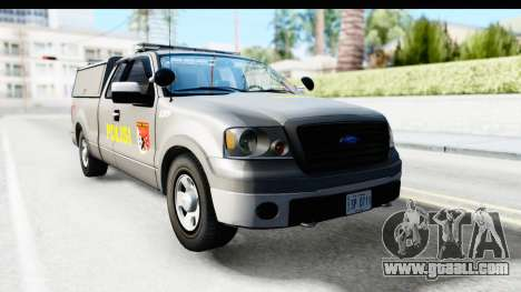 Ford F-150 Indonesian Police K-9 Unit for GTA San Andreas back left view