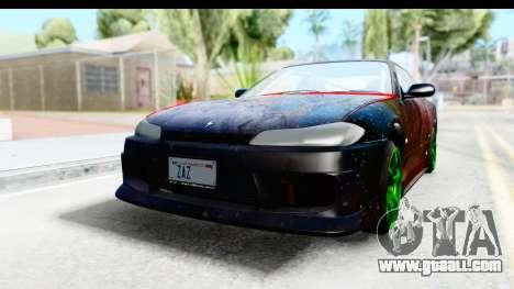 Nissan Silvia S15 Galaxy Drift v2.1 for GTA San Andreas back view