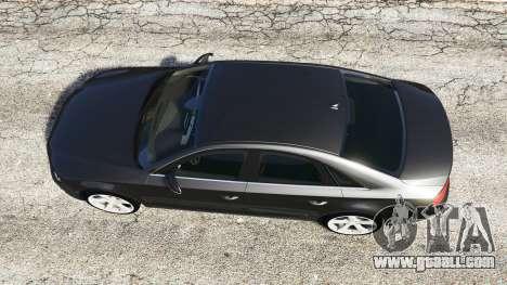 GTA 5 Audi A8 FSI 2010 back view