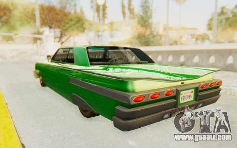 GTA 5 Declasse Voodoo SA Lights for GTA San Andreas back left view