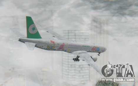Boeing 777-300ER Eva Air v2 for GTA San Andreas left view