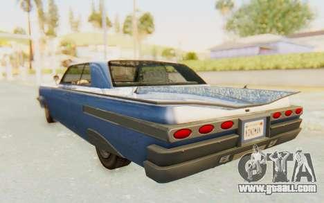 GTA 5 Declasse Voodoo Alternative v1 for GTA San Andreas right view