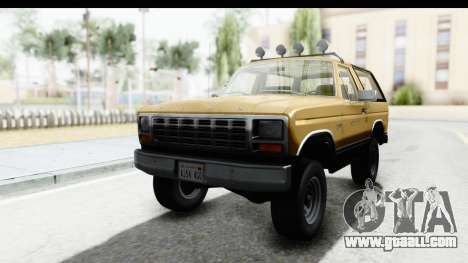 Ford Bronco 1980 IVF for GTA San Andreas