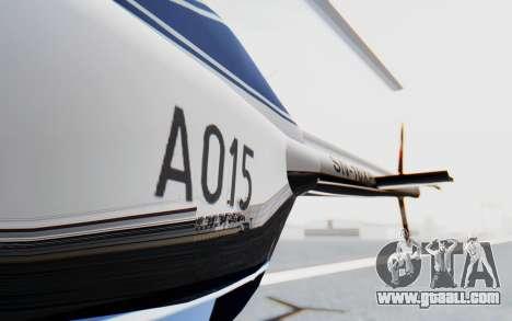 Bell 206B-III Jet Ranger Policja for GTA San Andreas inner view