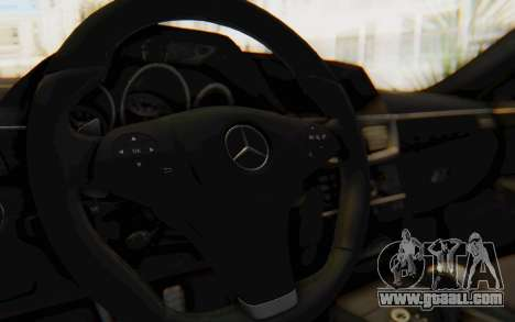 Mercedes-Benz E63 German Police Blue for GTA San Andreas inner view