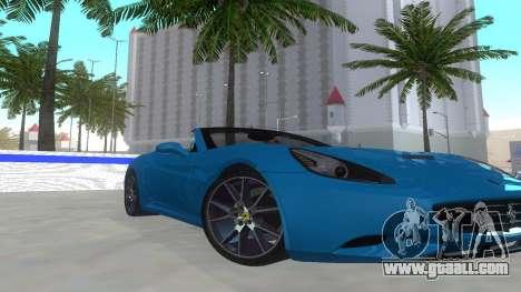 Ferrari California for GTA San Andreas left view