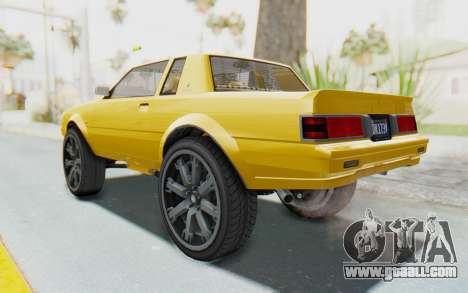 GTA 5 Willard Faction Custom Donk v1 IVF for GTA San Andreas left view
