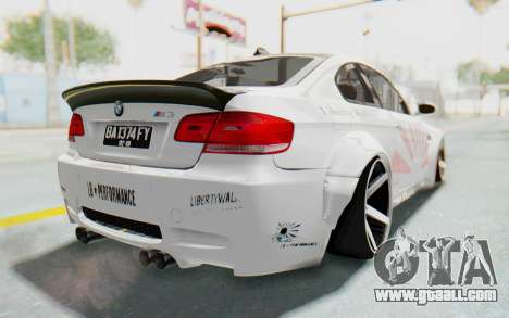 BMW M3 E92 Liberty Walk LB Performance for GTA San Andreas back left view