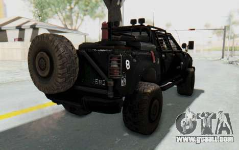 Toyota Hilux Technical Vindicator SecFor for GTA San Andreas back left view