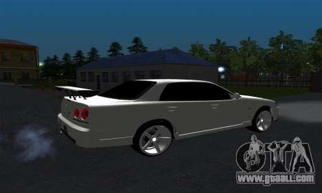Nissan Skyline ER34 GT-R for GTA San Andreas back left view