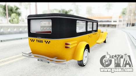 Unique V16 Fordor Taxi for GTA San Andreas right view