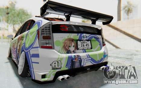 Toyota Prius Hybrid 2011 Hellaflush IF Itasha for GTA San Andreas bottom view