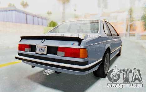 BMW M635 CSi (E24) 1984 IVF PJ1 for GTA San Andreas left view