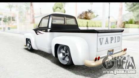 GTA 5 Vapid Slamvan without Hydro for GTA San Andreas wheels