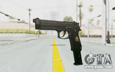 Tariq Iraqi Pistol Back v1 Black Long Ammo for GTA San Andreas