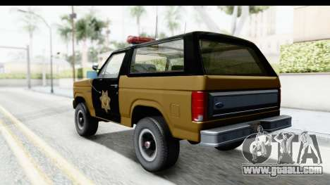 Ford Bronco 1982 Police IVF for GTA San Andreas left view