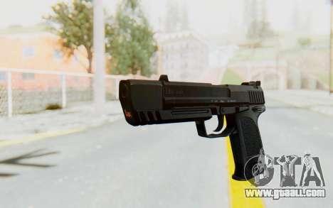 HK USP 45 Black for GTA San Andreas second screenshot