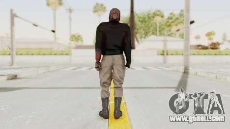 MGSV Phantom Pain Venom Snake Leather Jacket for GTA San Andreas third screenshot
