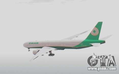 Boeing 777-300ER Eva Air v3 for GTA San Andreas right view