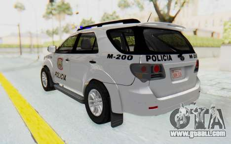 Toyota Fortuner 4WD 2015 Paraguay Police for GTA San Andreas left view