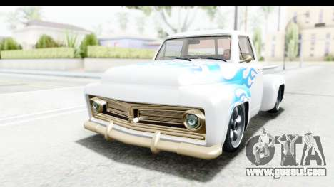 GTA 5 Vapid Slamvan without Hydro for GTA San Andreas bottom view