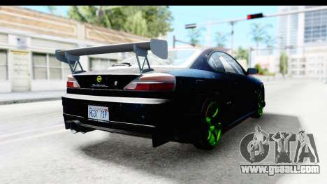 Nissan Silvia S15 Galaxy Drift v2.1 for GTA San Andreas back left view