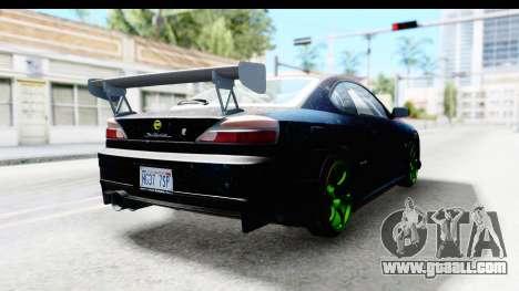 Nissan Silvia S15 Galaxy Drift v2.1 for GTA San Andreas back left view