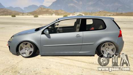 GTA 5 Volskwagen Golf MkV Stance left side view