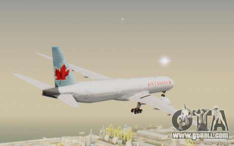 Boeing 777-300ER Air Canada for GTA San Andreas right view