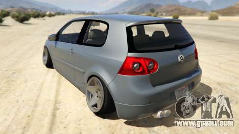 GTA 5 Volskwagen Golf MkV Stance rear left side view