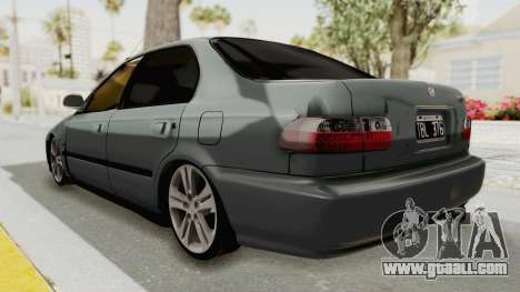 Honda Civic SI Sedan 1992 for GTA San Andreas left view