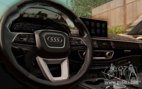 Audi A4 2017 HQLM for GTA San Andreas inner view