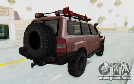 Nissan Patrol Y61 Off Road for GTA San Andreas back left view