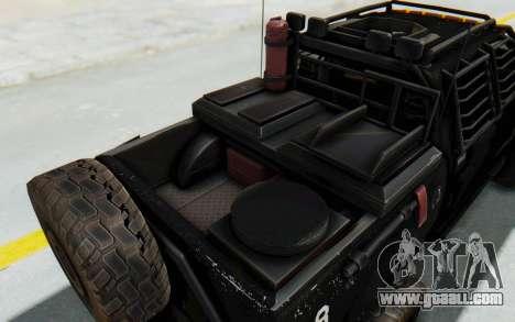 Toyota Hilux Technical Vindicator SecFor for GTA San Andreas inner view