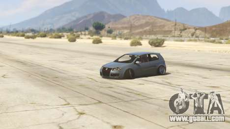 GTA 5 Volskwagen Golf MkV Stance back view