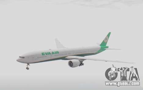 Boeing 777-300ER Eva Air v3 for GTA San Andreas back left view