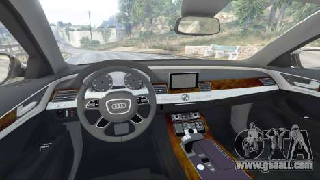 GTA 5 Audi A8 FSI 2010 front right side view