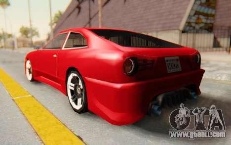 Elegy GT v1 for GTA San Andreas left view