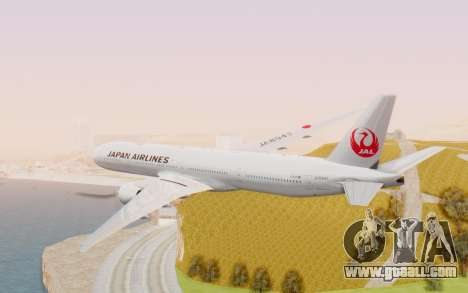 Boeing 777-300ER Japan Airlines v2 for GTA San Andreas right view