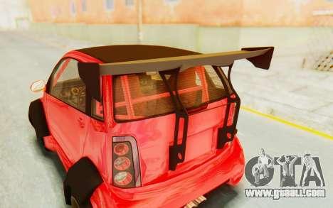 GTA 5 Benefactor Panto Custom for GTA San Andreas back view