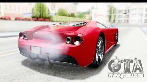 GTA 5 Vapid FMJ IVF for GTA San Andreas back left view