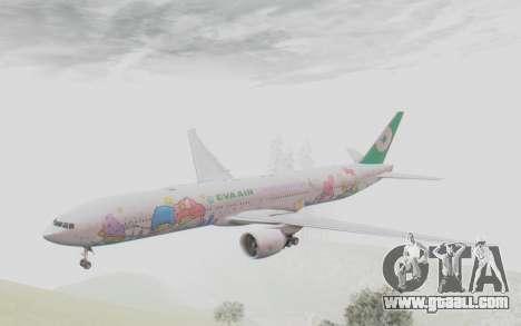 Boeing 777-300ER Eva Air v2 for GTA San Andreas