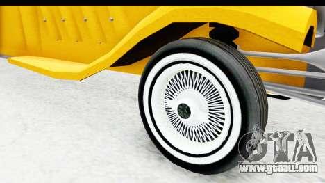 Unique V16 Fordor Taxi for GTA San Andreas back view